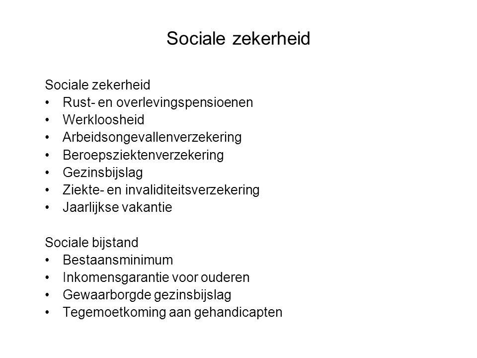 Sociale zekerheid Sociale zekerheid Rust- en overlevingspensioenen