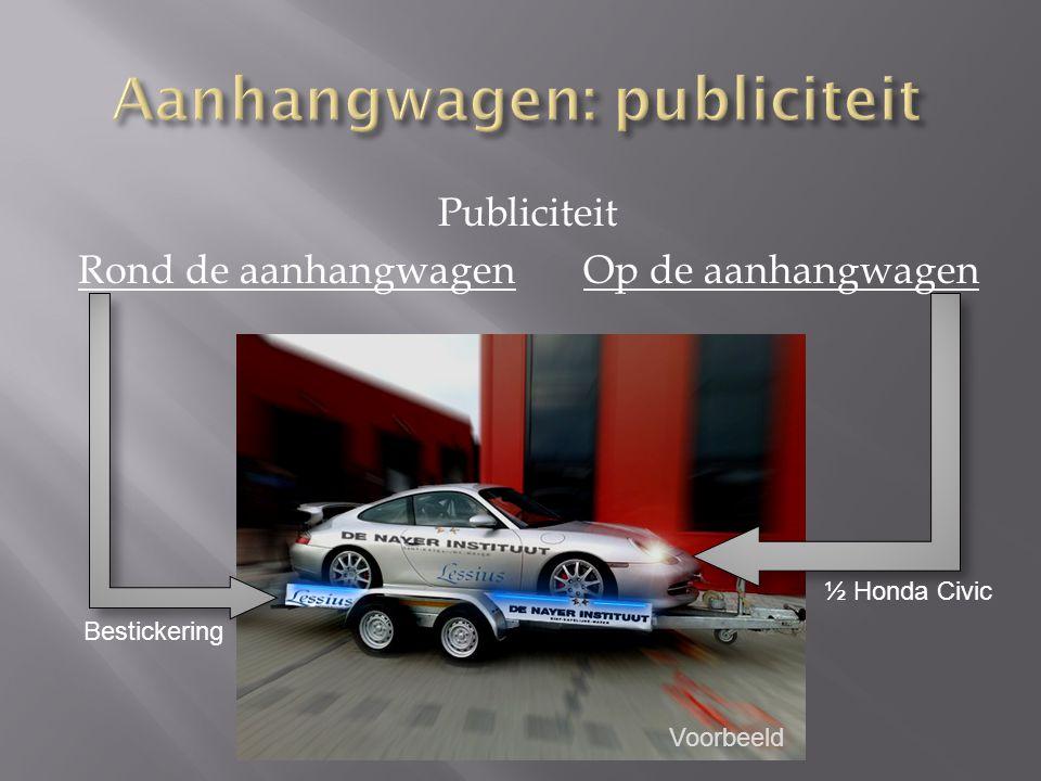Aanhangwagen: publiciteit