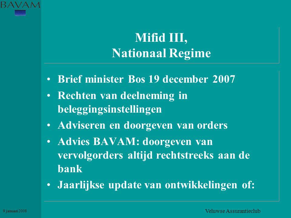 Mifid III, Nationaal Regime