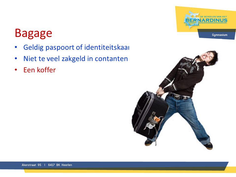 Bagage Geldig paspoort of identiteitskaart