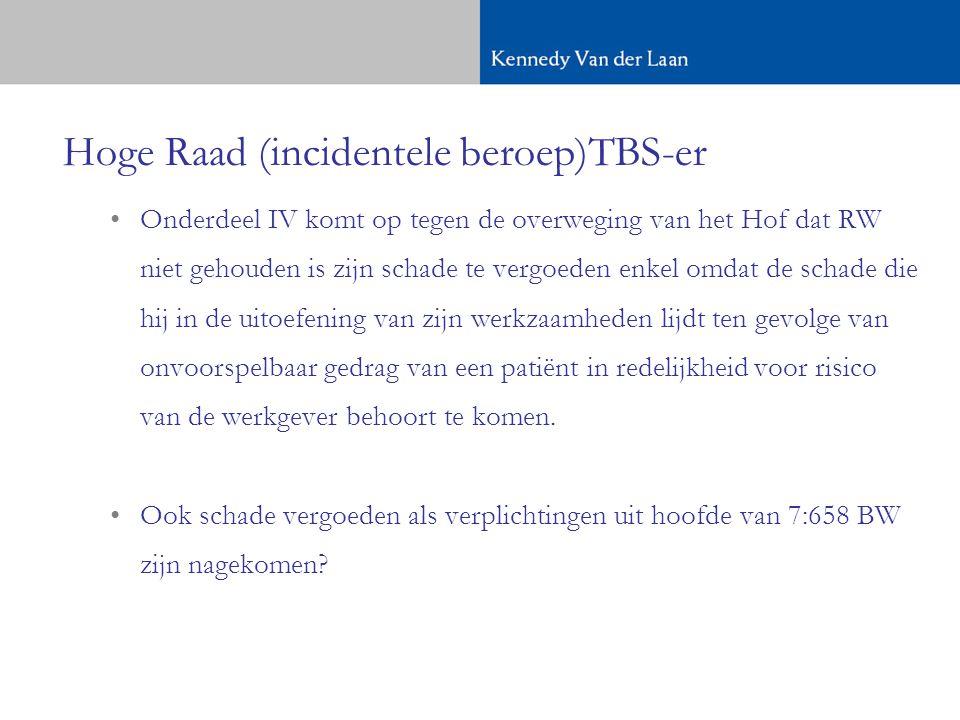 Hoge Raad (incidentele beroep)TBS-er