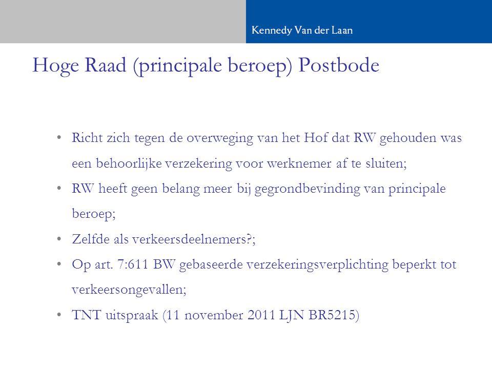 Hoge Raad (principale beroep) Postbode