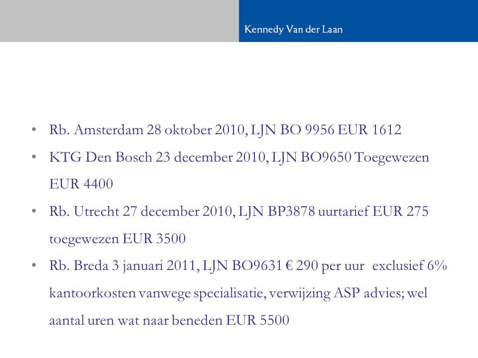 Rb. Amsterdam 28 oktober 2010, LJN BO 9956 EUR 1612