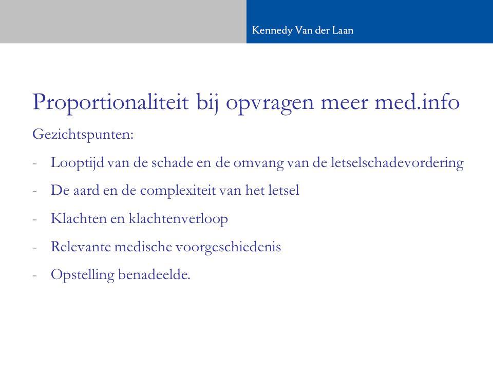 Proportionaliteit bij opvragen meer med.info