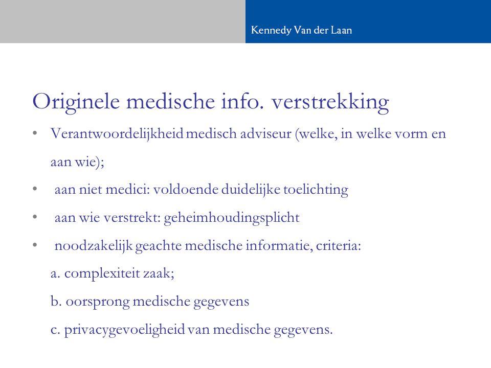 Originele medische info. verstrekking