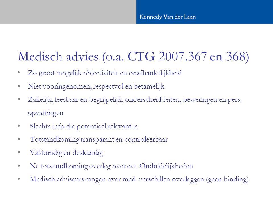 Medisch advies (o.a. CTG 2007.367 en 368)