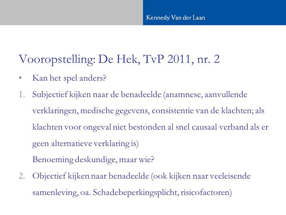Vooropstelling: De Hek, TvP 2011, nr. 2