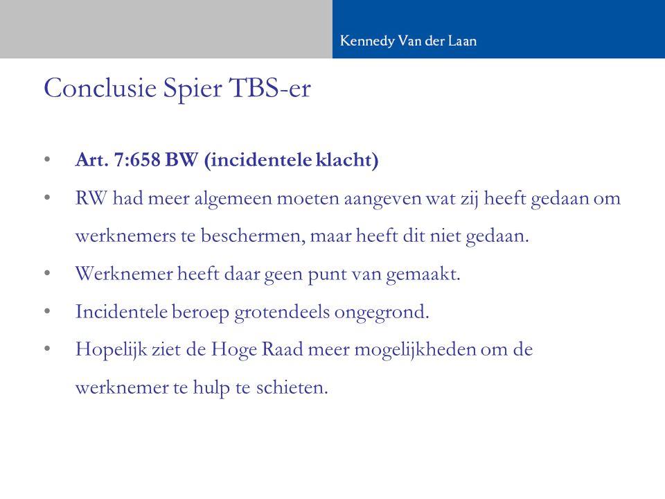 Conclusie Spier TBS-er