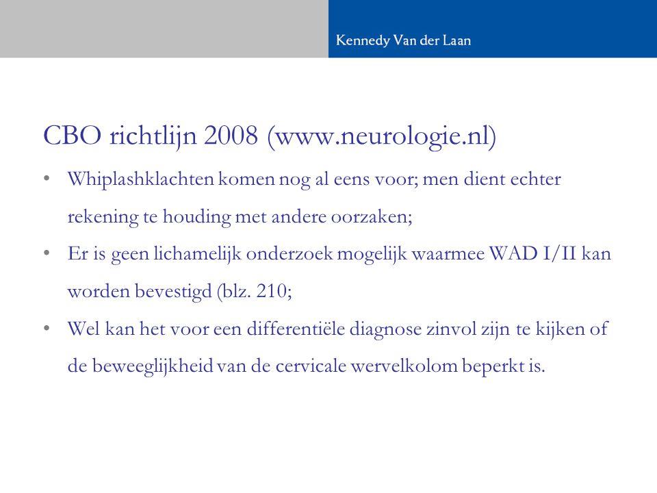 CBO richtlijn 2008 (www.neurologie.nl)