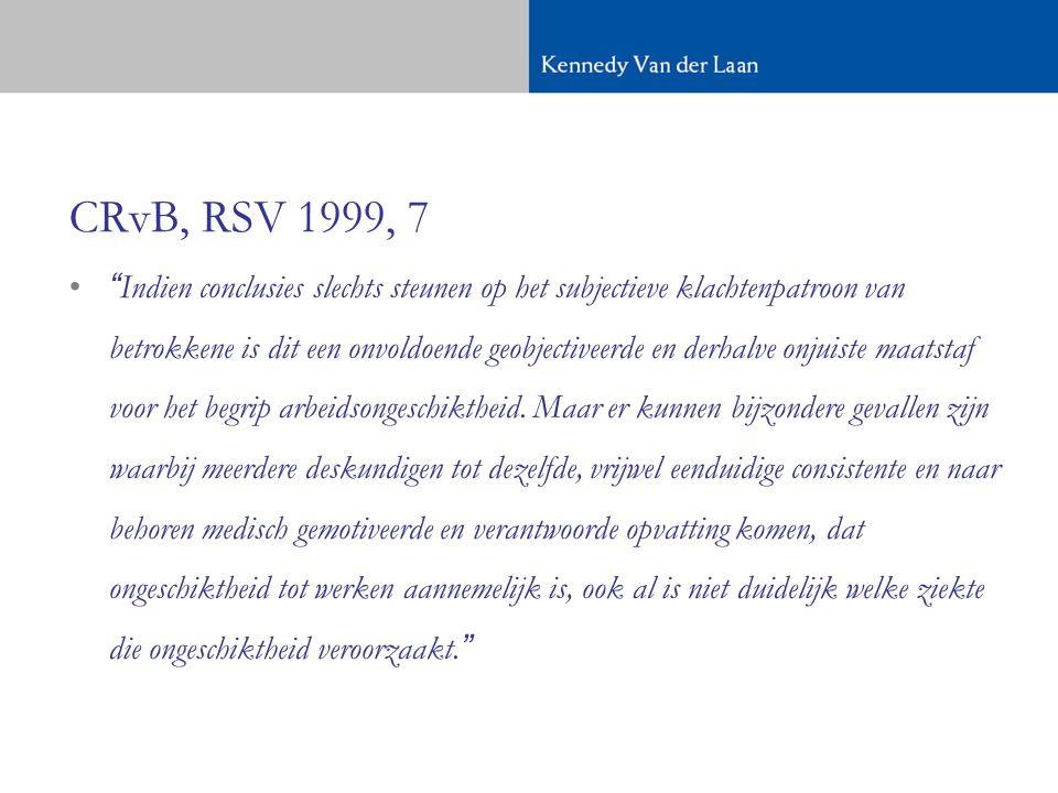 CRvB, RSV 1999, 7