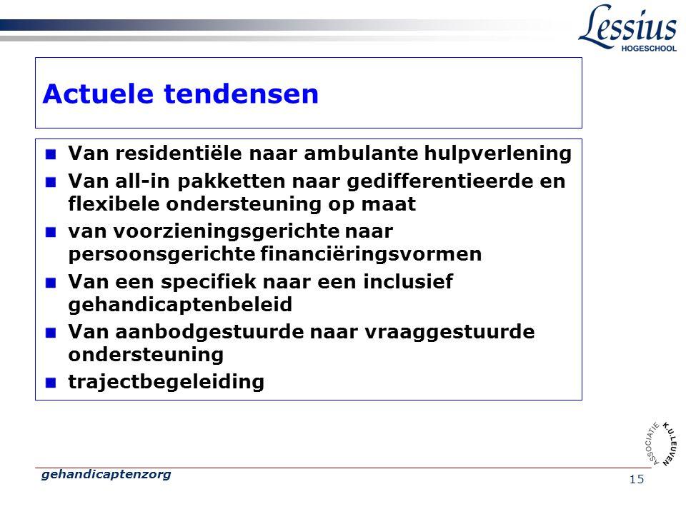 Actuele tendensen Van residentiële naar ambulante hulpverlening