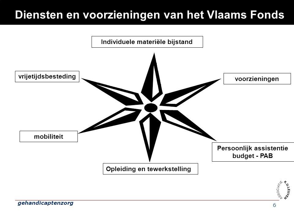 Diensten en voorzieningen van het Vlaams Fonds