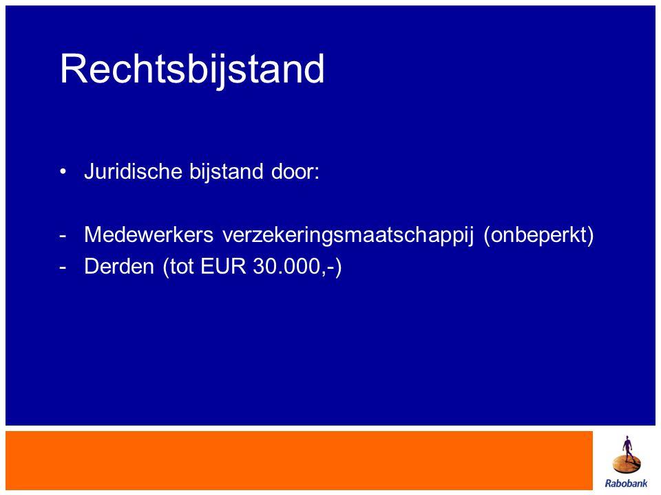 Rechtsbijstand Juridische bijstand door: