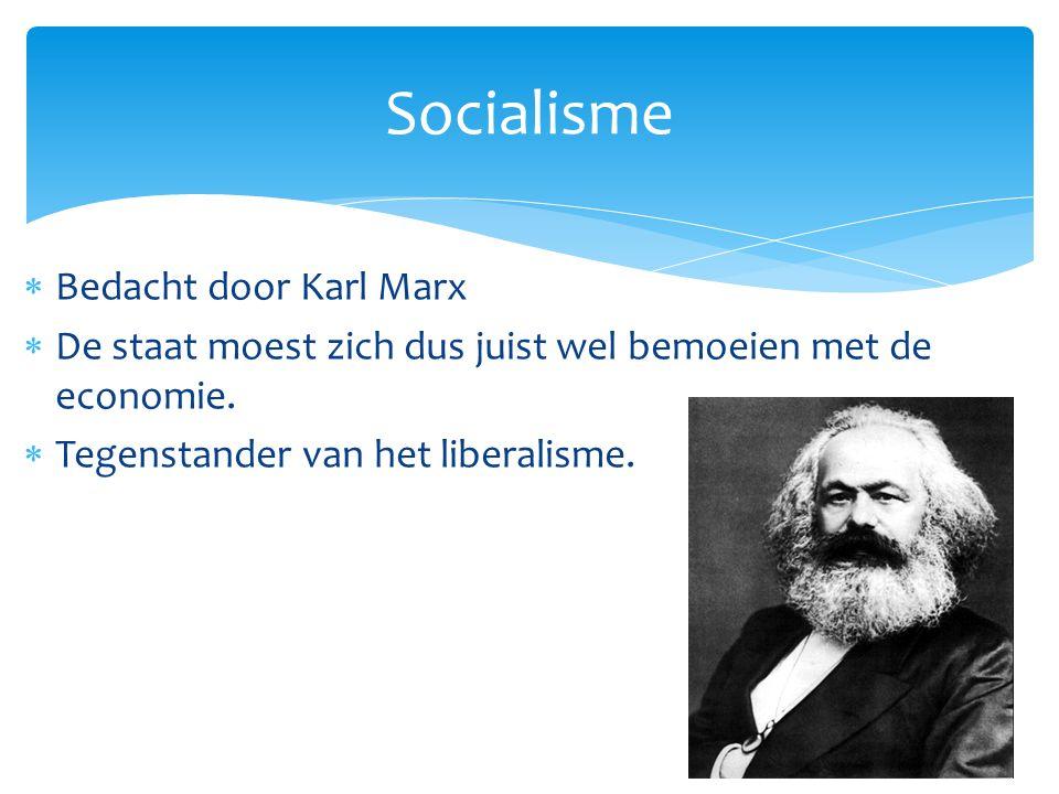 Socialisme Bedacht door Karl Marx