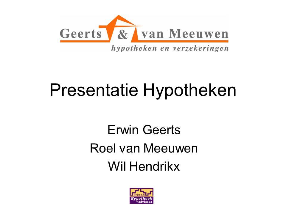 Presentatie Hypotheken