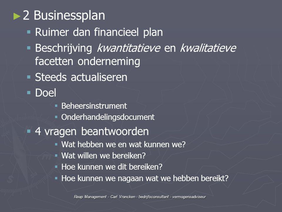 2 Businessplan Ruimer dan financieel plan