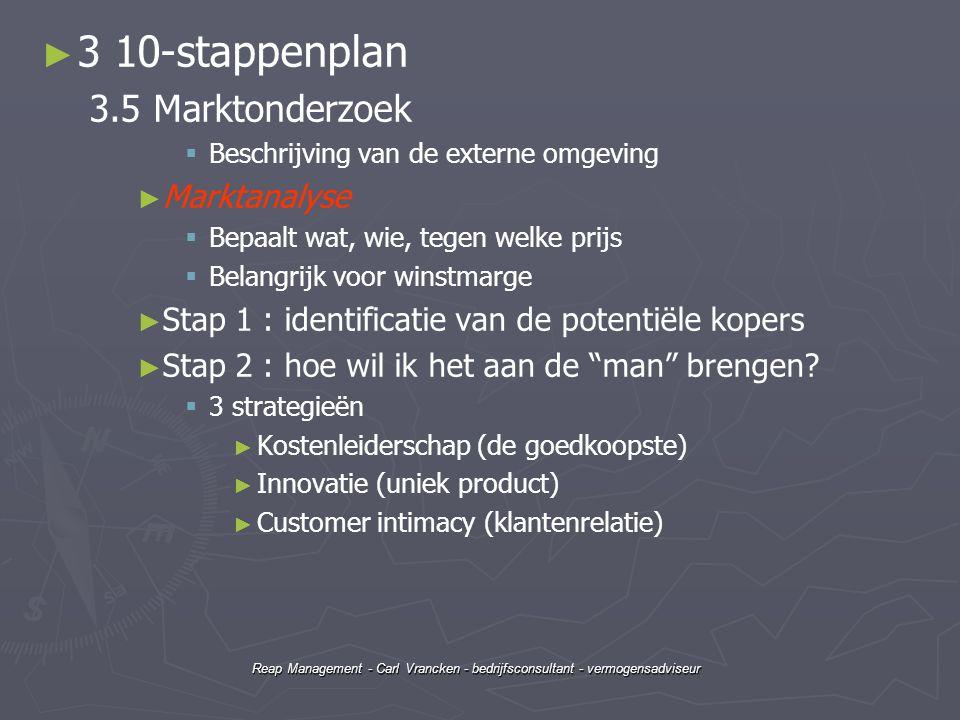 3 10-stappenplan 3.5 Marktonderzoek Marktanalyse