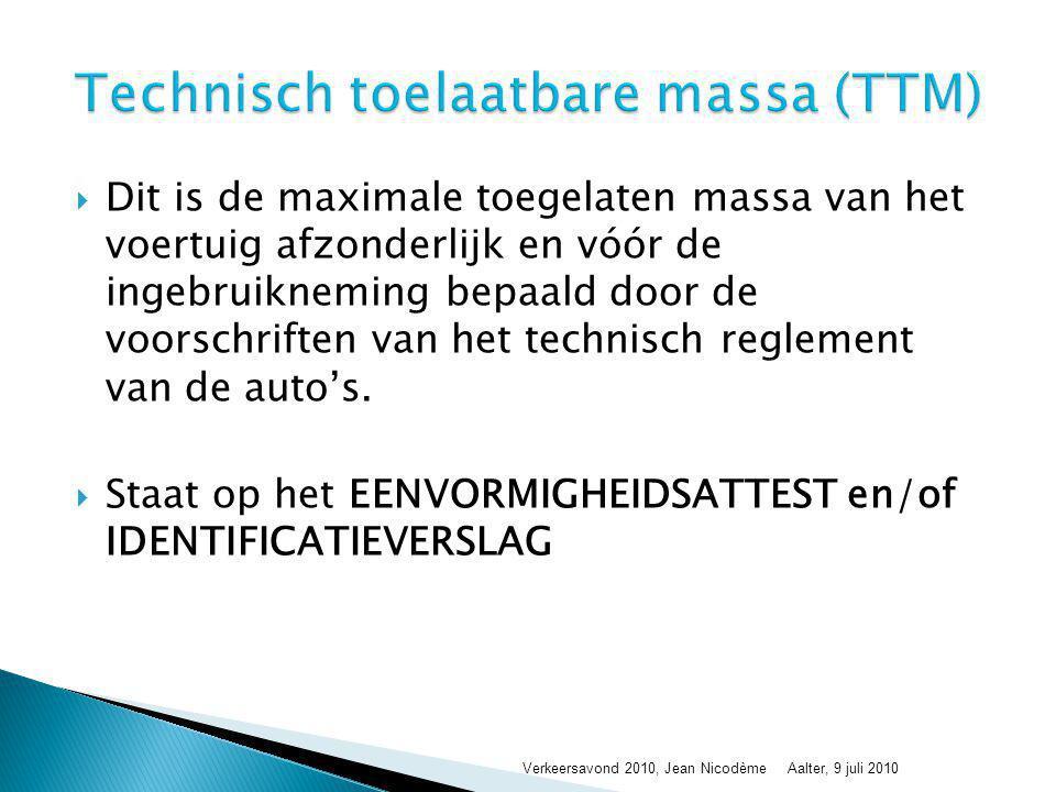 Technisch toelaatbare massa (TTM)