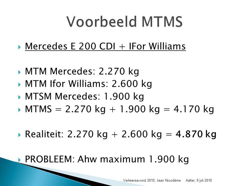 Voorbeeld MTMS Mercedes E 200 CDI + IFor Williams