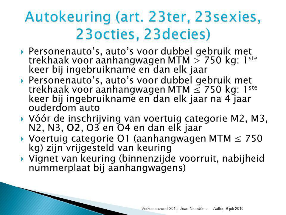 Autokeuring (art. 23ter, 23sexies, 23octies, 23decies)