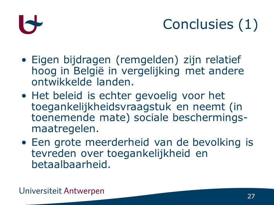 Conclusies (2) Relatief gezien hebben zwakkere socio-economische groepen het moeilijker.