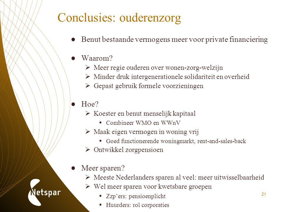 Conclusies: ouderenzorg