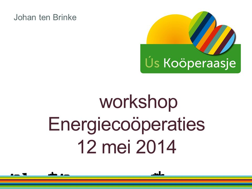 workshop Energiecoöperaties 12 mei 2014