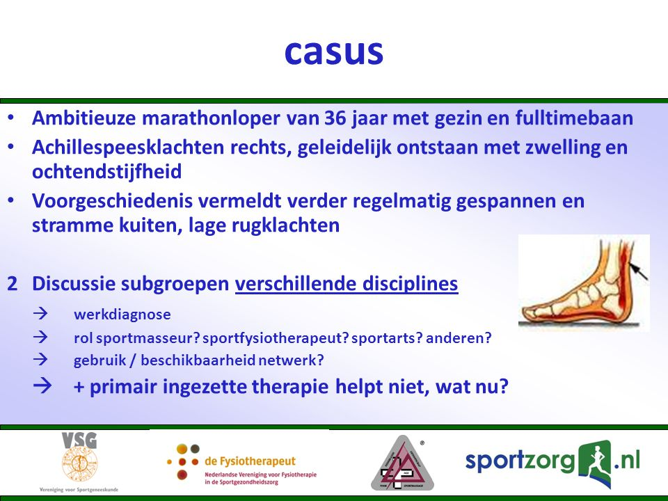 casus Ambitieuze marathonloper van 36 jaar met gezin en fulltimebaan