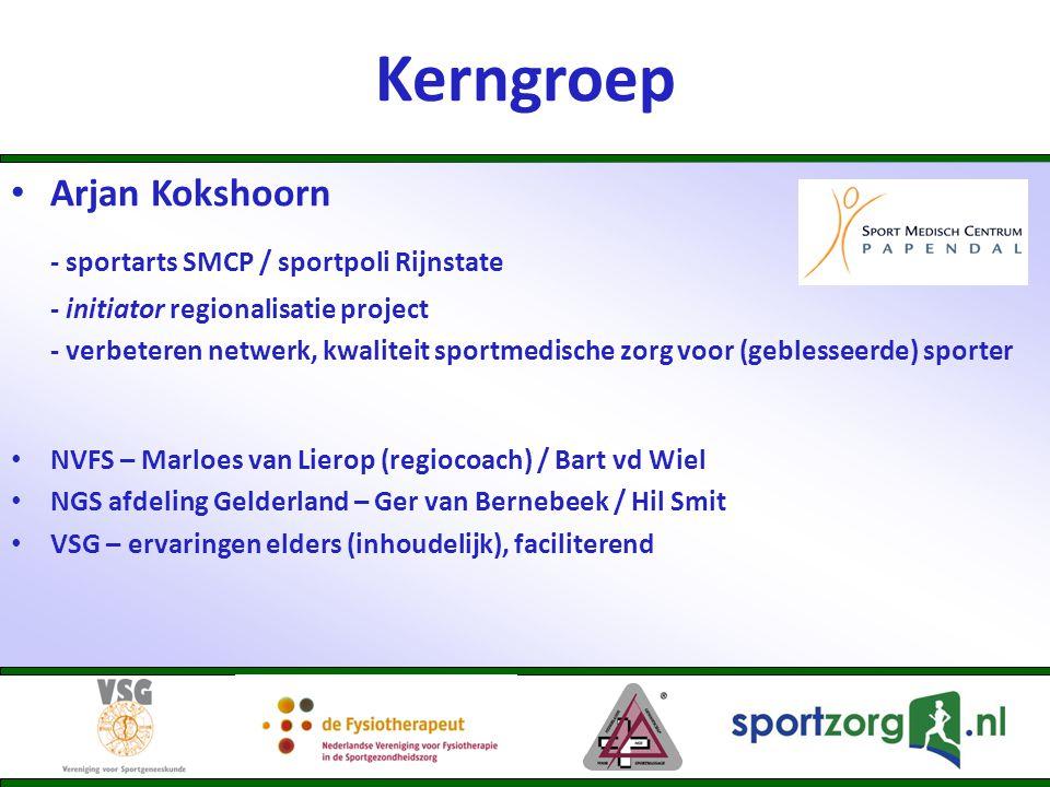 Kerngroep - sportarts SMCP / sportpoli Rijnstate Arjan Kokshoorn