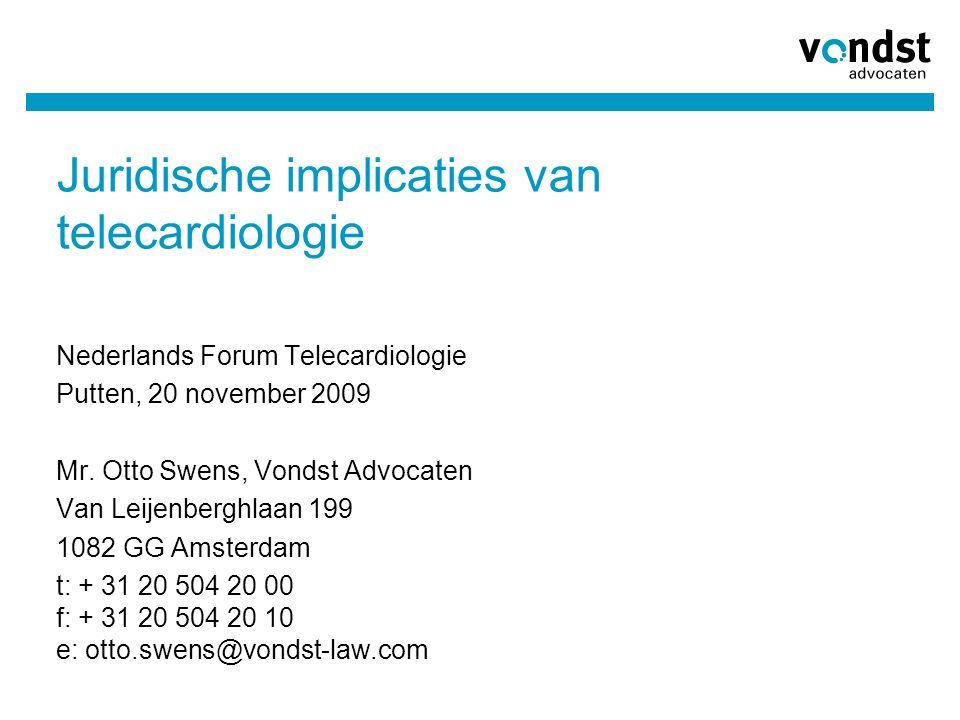 Juridische implicaties van telecardiologie