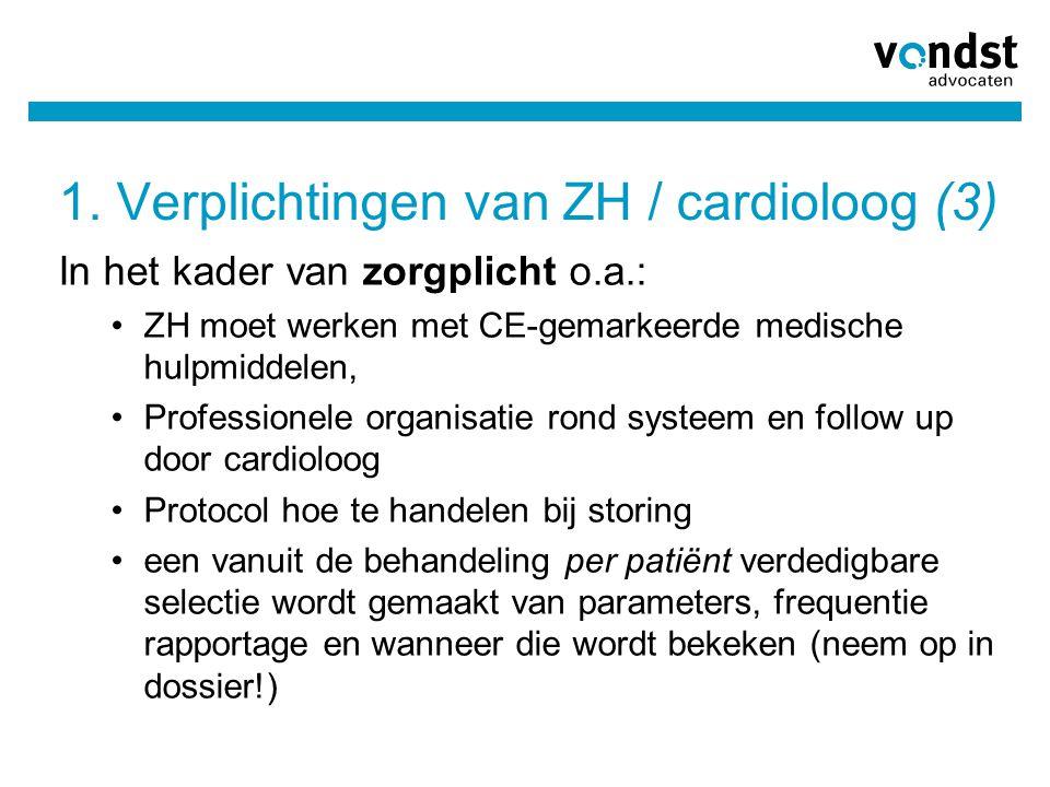 1. Verplichtingen van ZH / cardioloog (3)