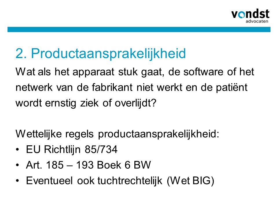 2. Productaansprakelijkheid