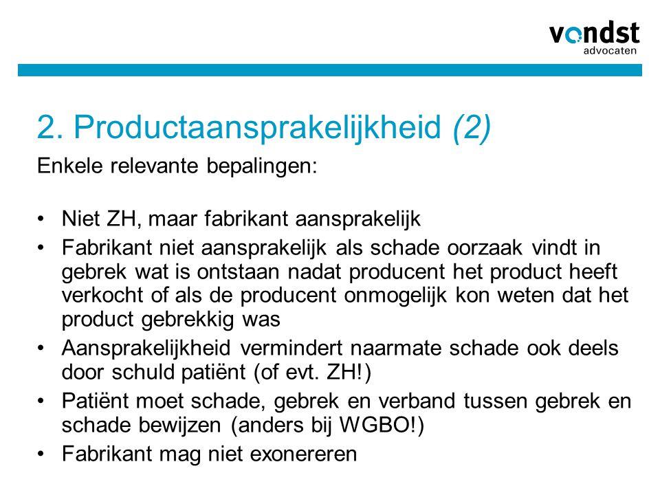 2. Productaansprakelijkheid (2)