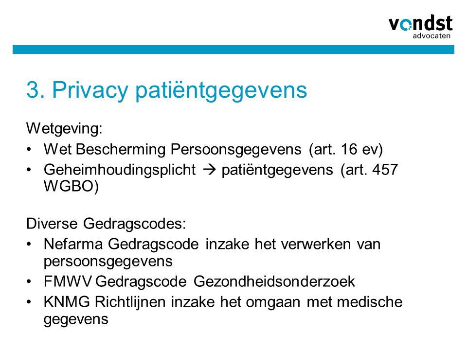 3. Privacy patiëntgegevens
