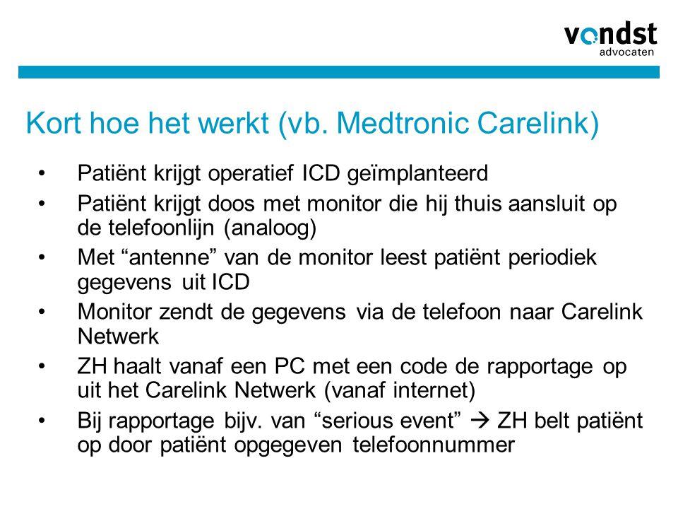 Kort hoe het werkt (vb. Medtronic Carelink)