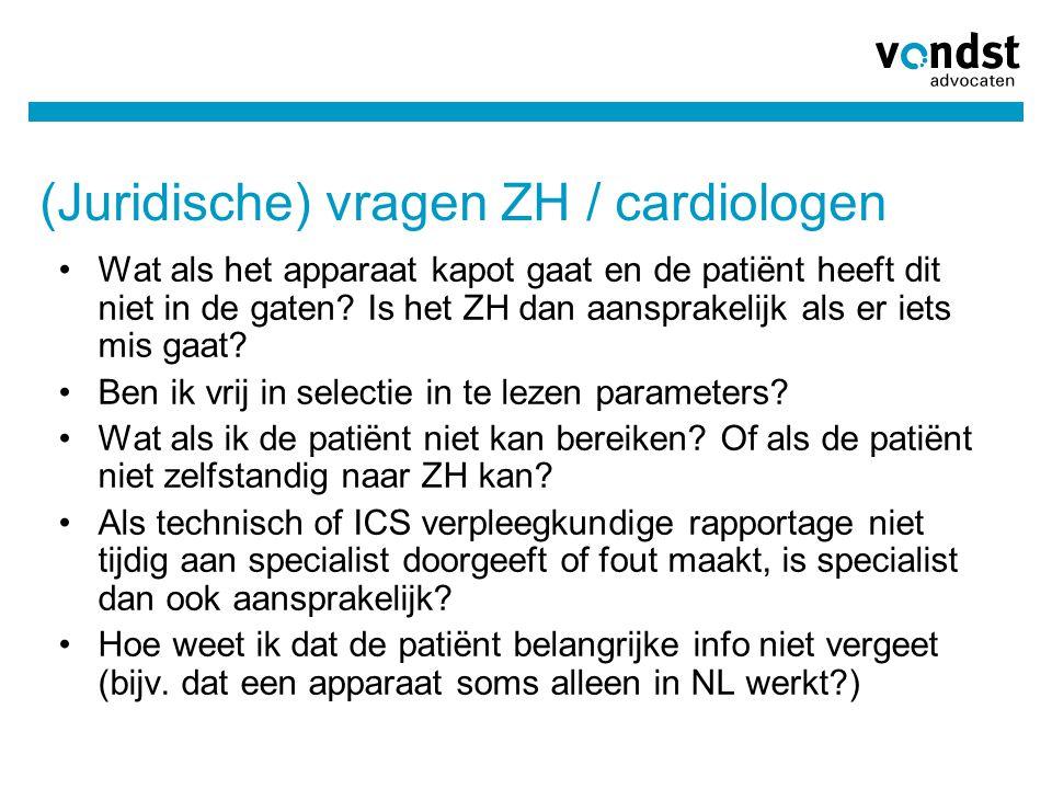 (Juridische) vragen ZH / cardiologen