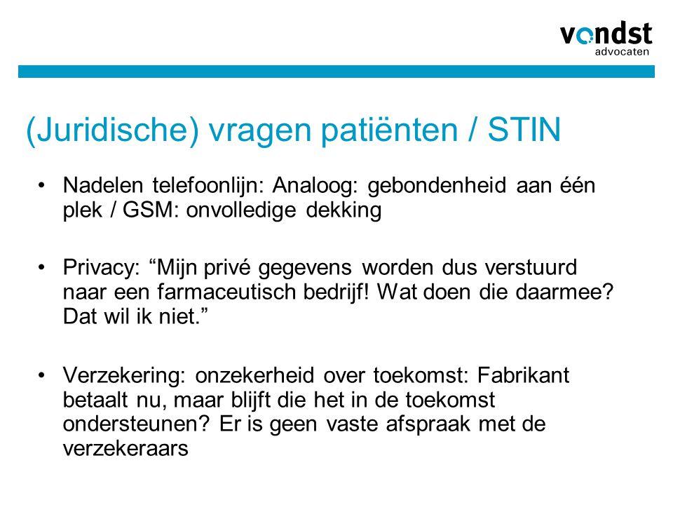 (Juridische) vragen patiënten / STIN