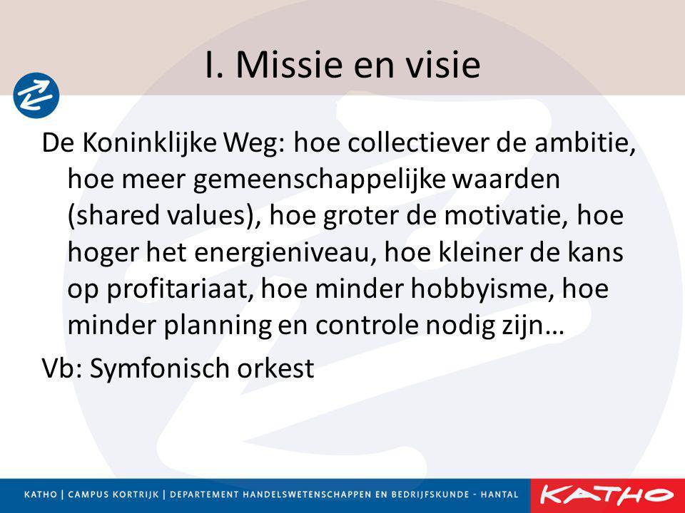 I. Missie en visie