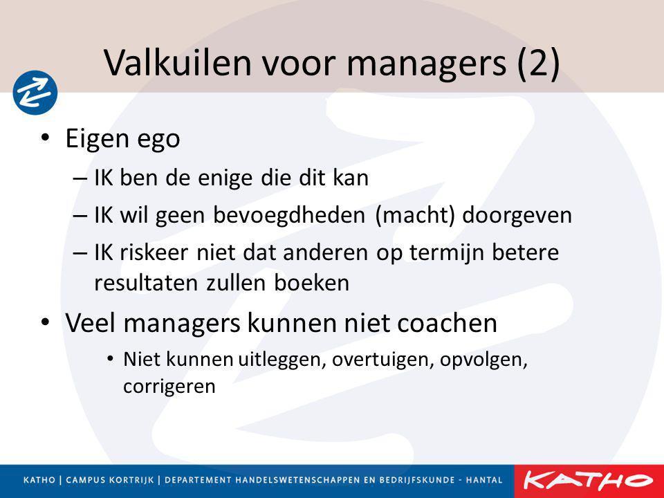 Valkuilen voor managers (2)