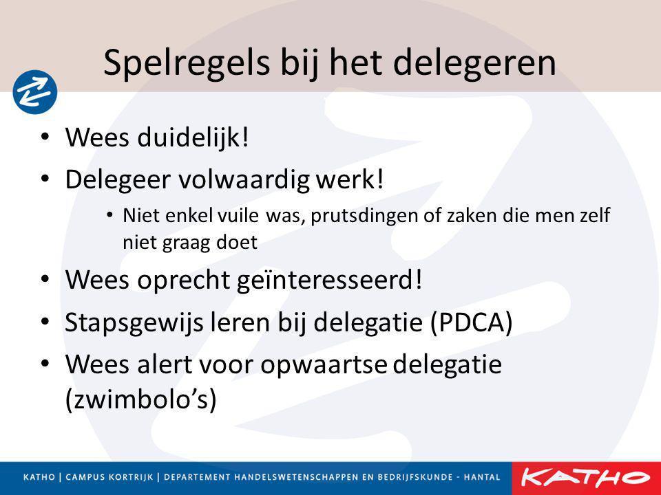 Spelregels bij het delegeren