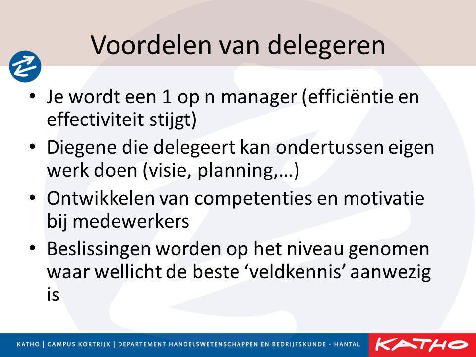 Voordelen van delegeren
