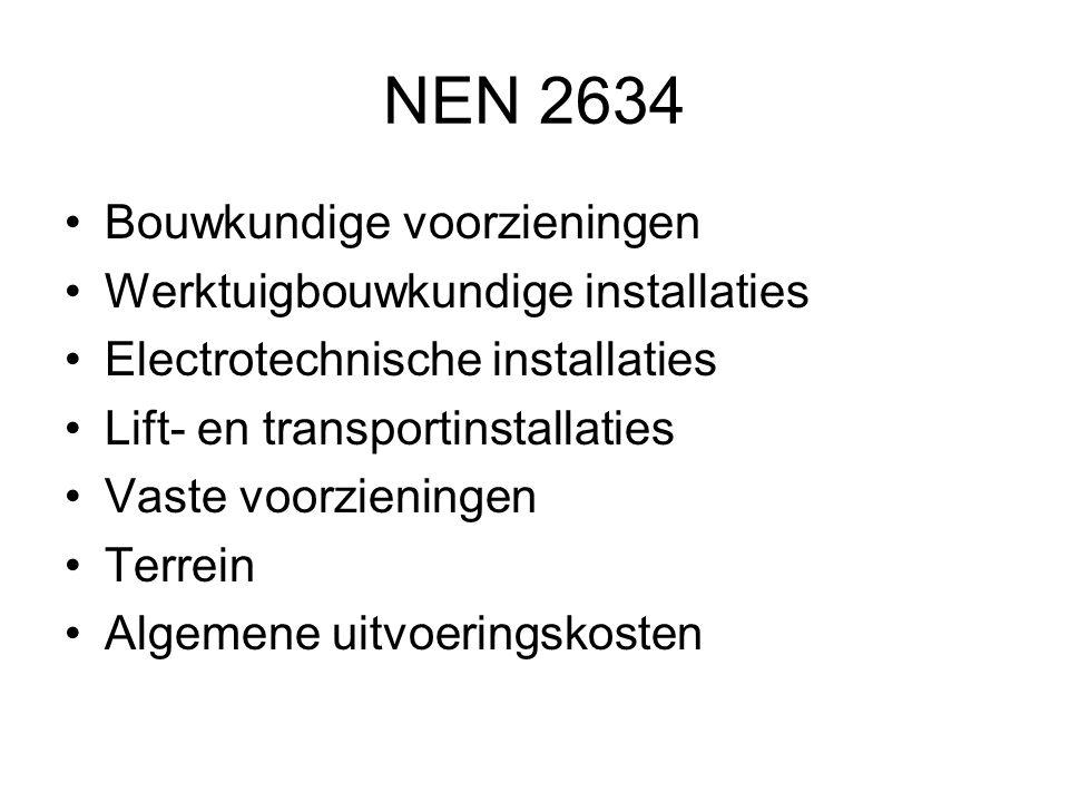 NEN 2634 Bouwkundige voorzieningen Werktuigbouwkundige installaties