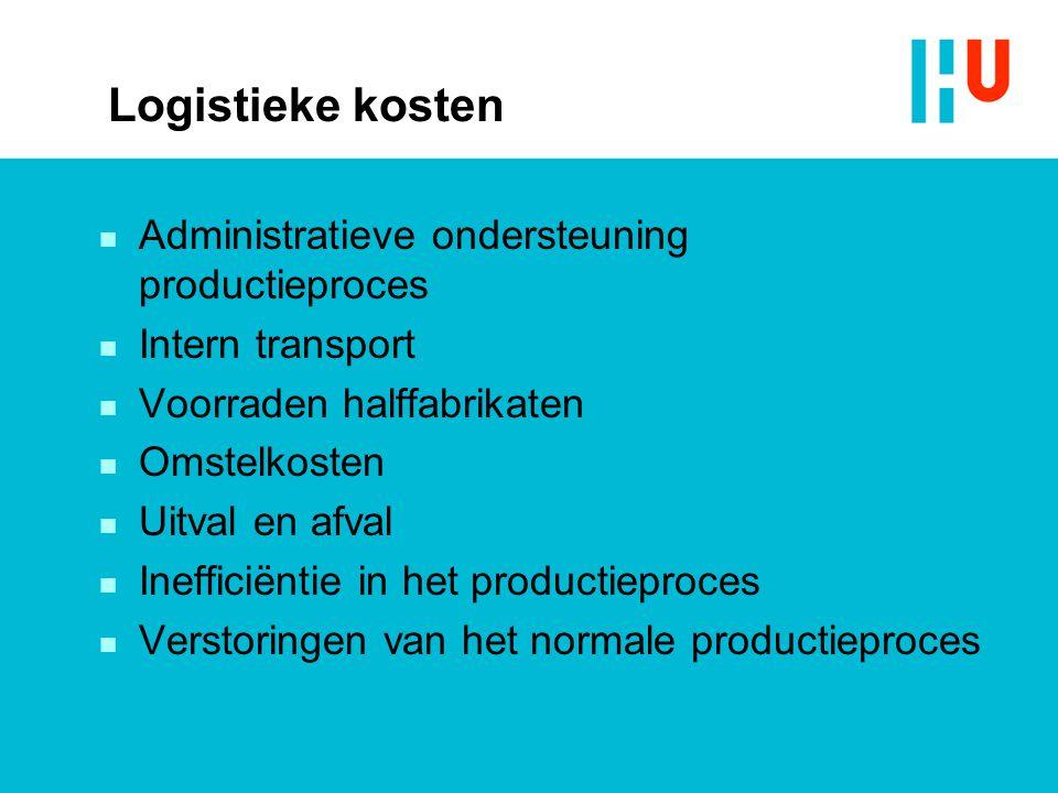 Logistieke kosten Administratieve ondersteuning productieproces