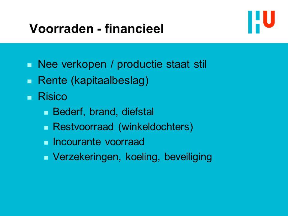Voorraden - financieel