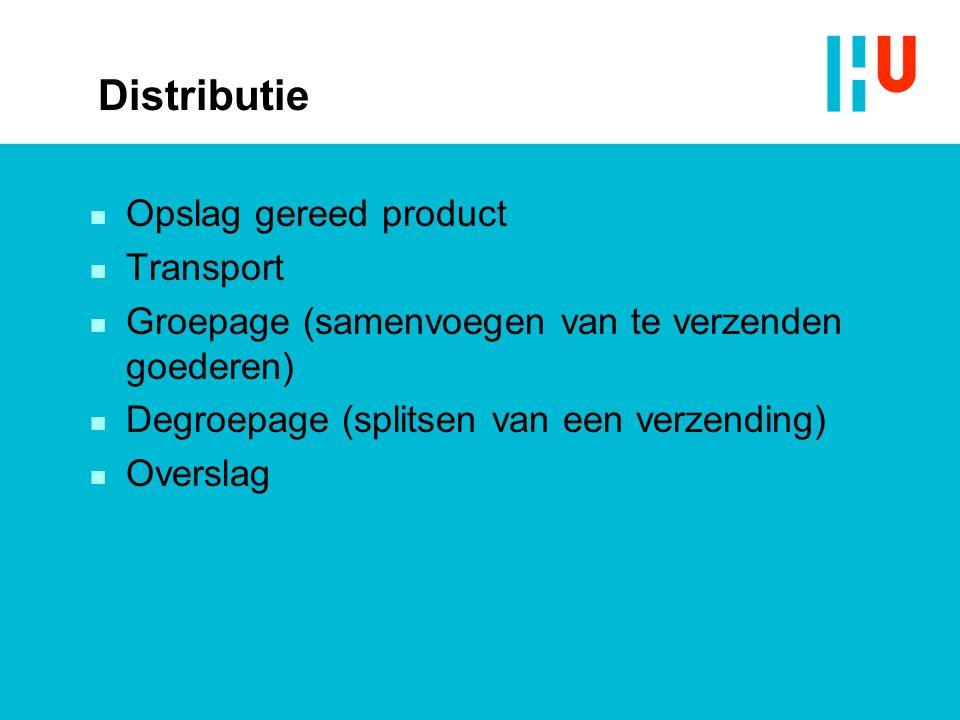 Distributie Opslag gereed product Transport