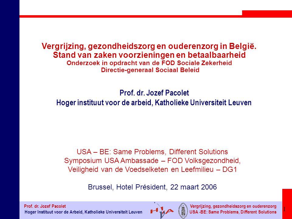 Vergrijzing, gezondheidszorg en ouderenzorg in België.