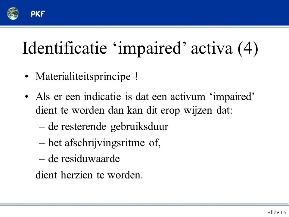 Identificatie 'impaired' activa (4)