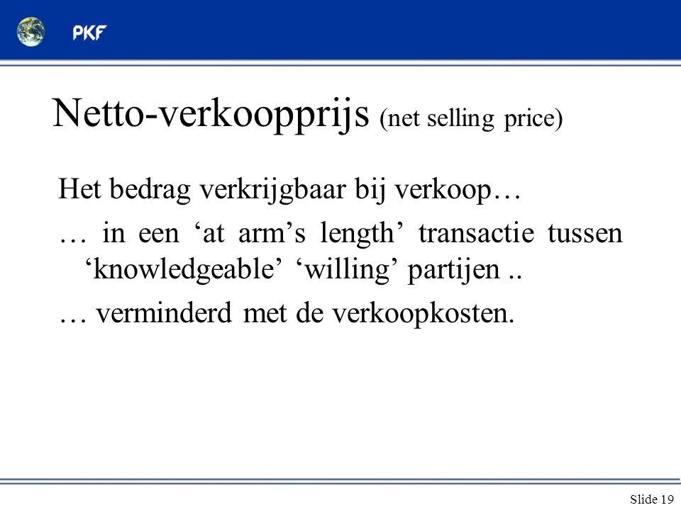 Netto-verkoopprijs (net selling price)