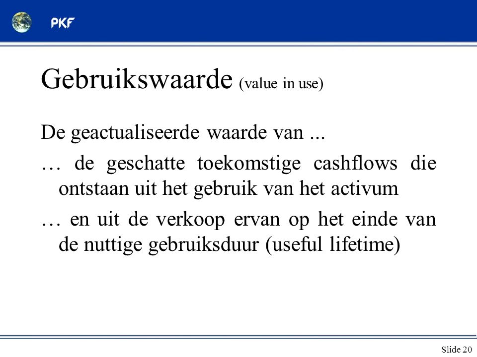Gebruikswaarde (value in use)