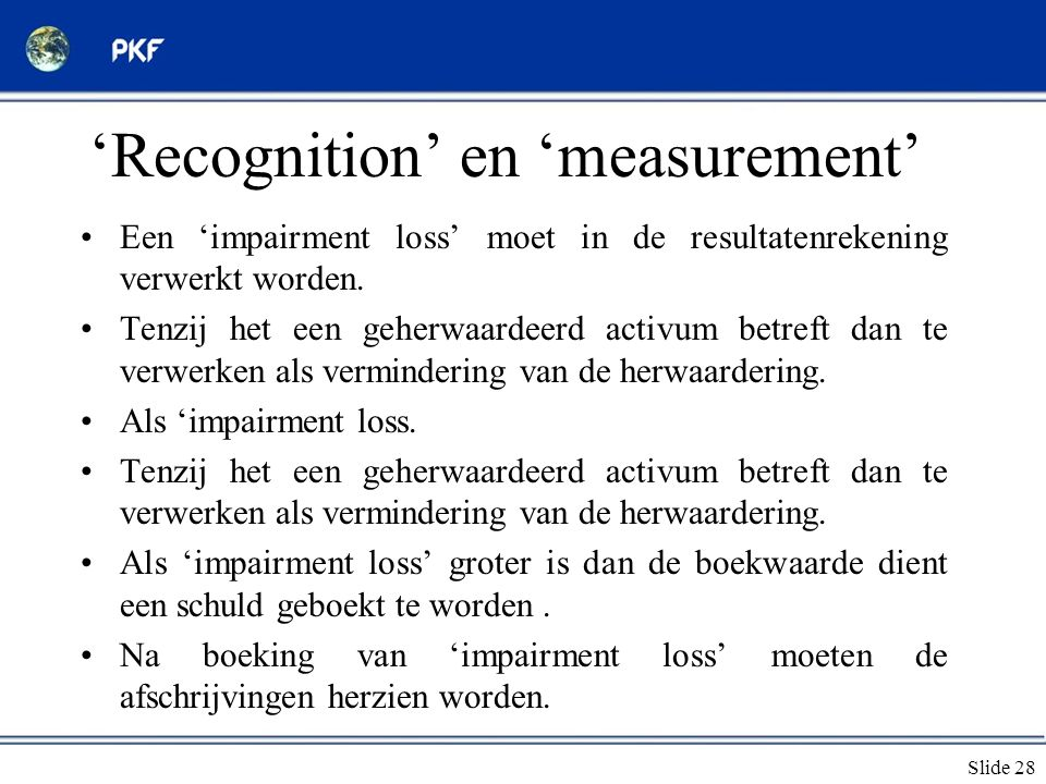 'Recognition' en 'measurement'